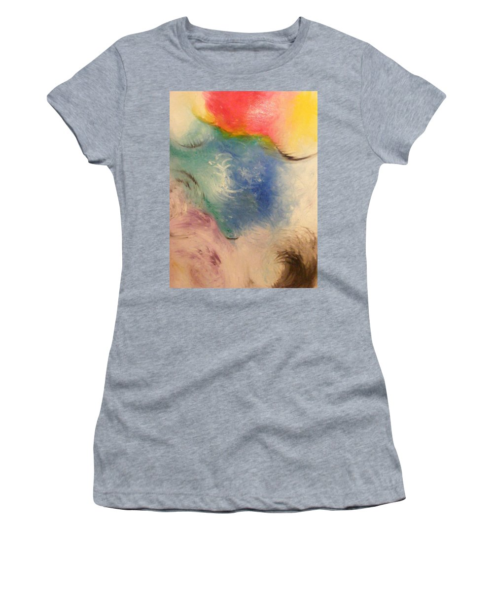 Abstract Women's T-Shirt (Athletic Fit) featuring the painting Spirit by Kim Rahal
