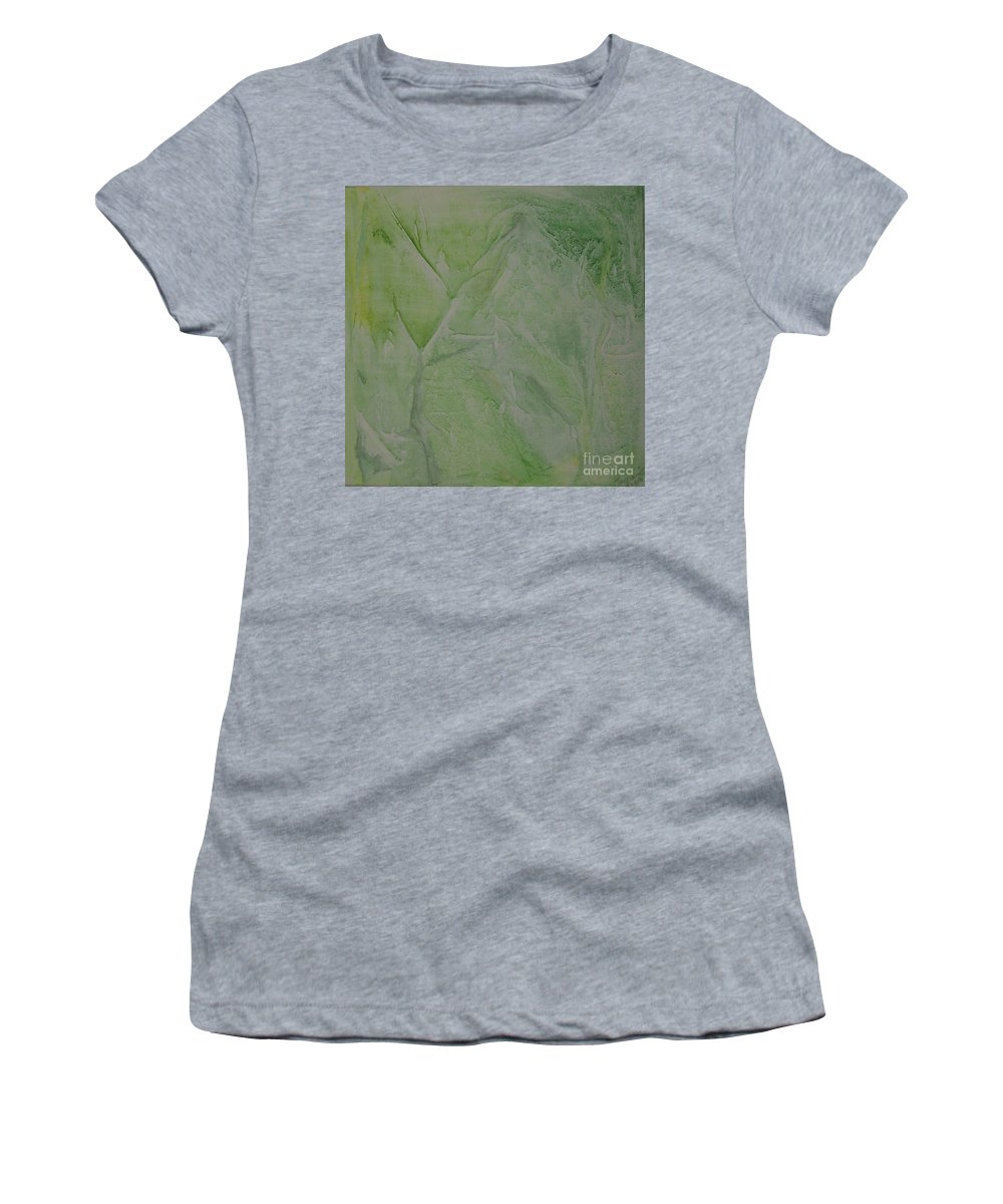 Watercolor On Canvas Women's T-Shirt (Athletic Fit) featuring the painting Spring by Davorka Segovic