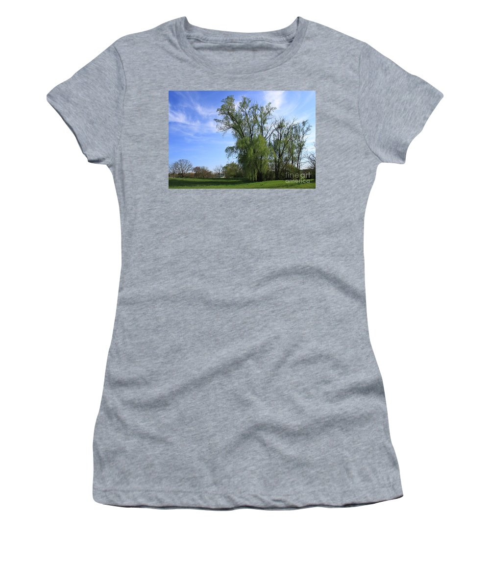 Landscape Women's T-Shirt (Athletic Fit) featuring the photograph Spring Day by Todd Blanchard