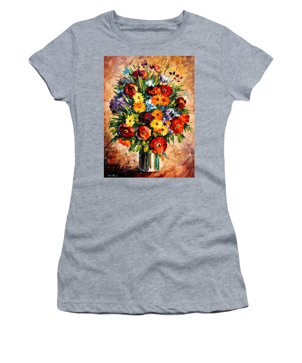 Afremov Women's T-Shirt featuring the painting Spring Passion by Leonid Afremov