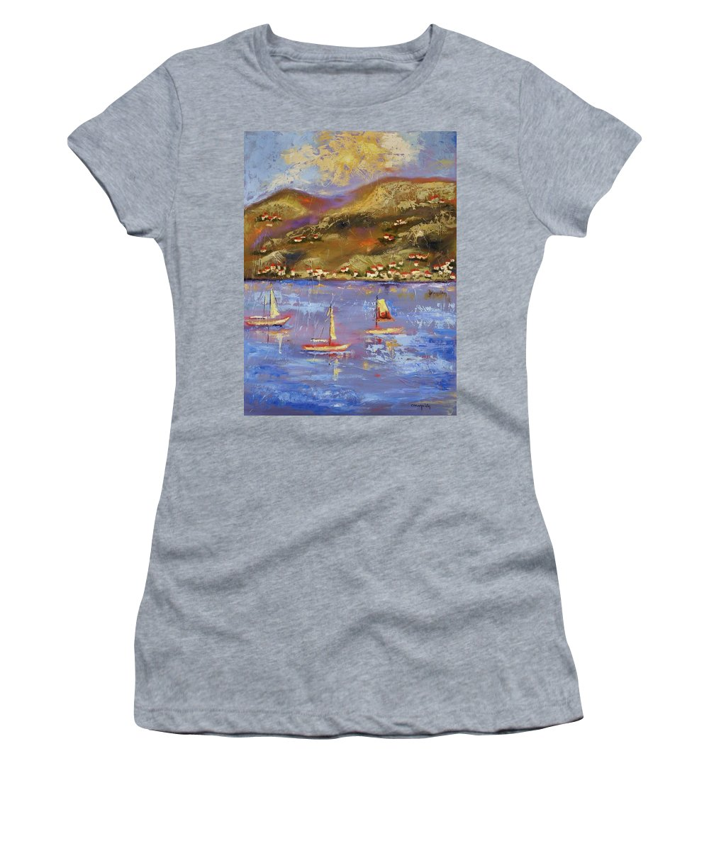 St. John Women's T-Shirt (Athletic Fit) featuring the painting St. John Usvi by Ginger Concepcion