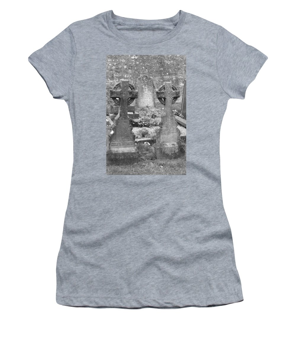 Tombstones Women's T-Shirt (Athletic Fit) featuring the photograph St. Mary by Lauri Novak
