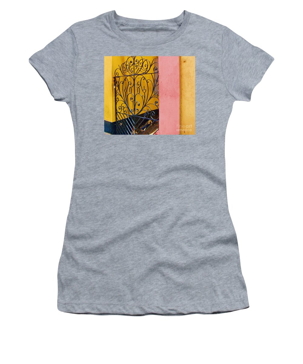 Gate Women's T-Shirt (Athletic Fit) featuring the photograph St. Thomas Gate by Debbi Granruth