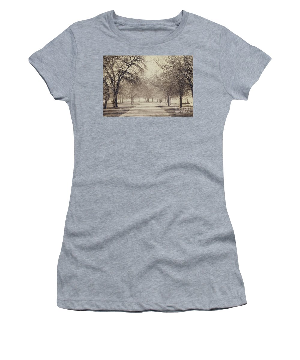 Trees Women's T-Shirt (Athletic Fit) featuring the photograph Stand Where I Stood by Dana DiPasquale