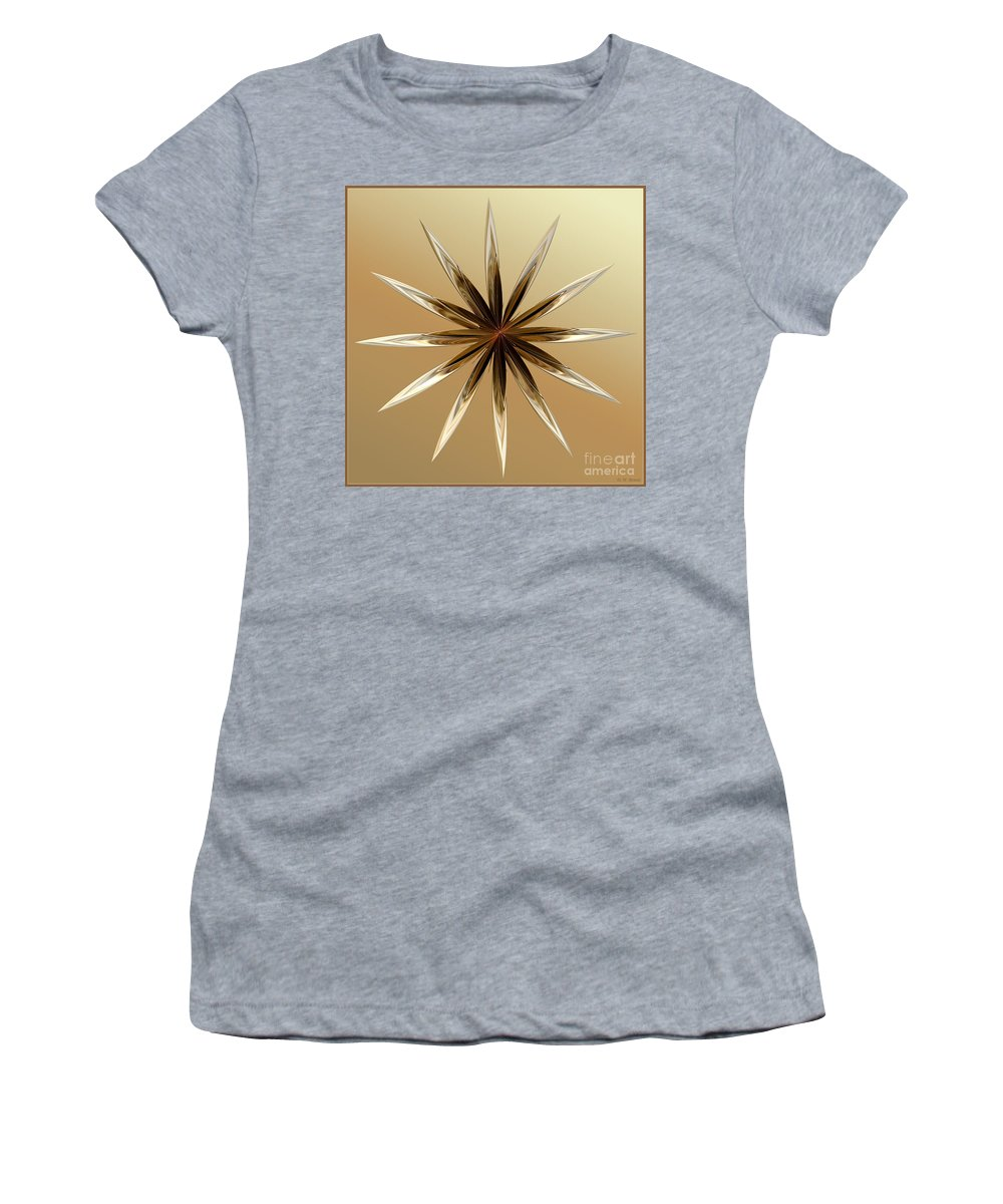 Digital Women's T-Shirt featuring the digital art Star Tan by Deborah Benoit