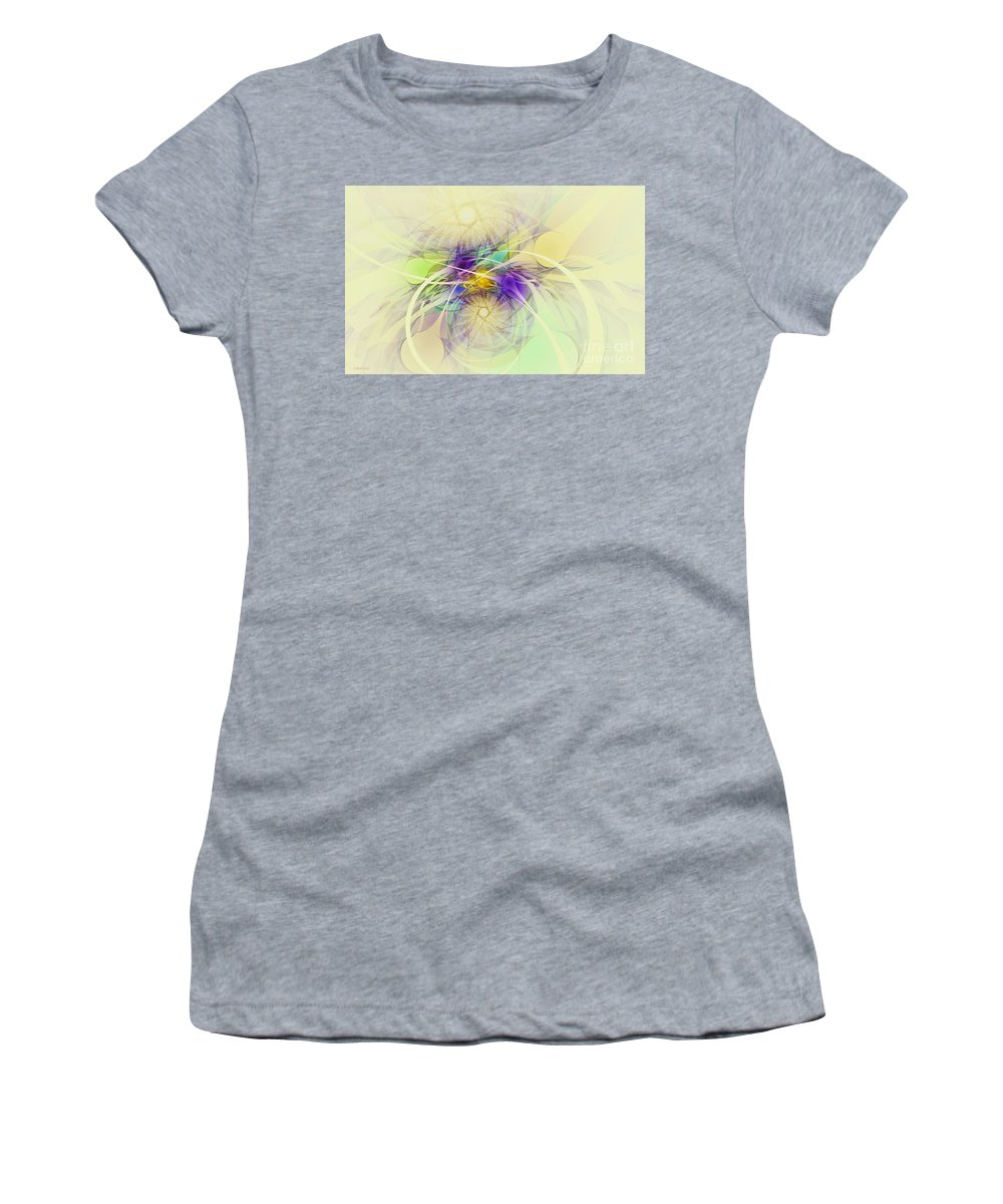 Digital Women's T-Shirt (Athletic Fit) featuring the digital art Stars Are Born by Deborah Benoit