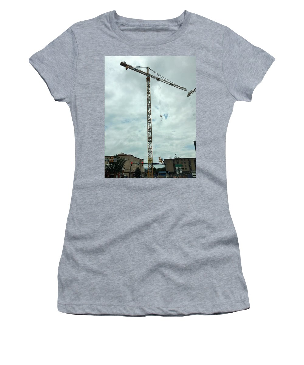 Cities Women's T-Shirt featuring the photograph State College Pa by Sabina Trzebna