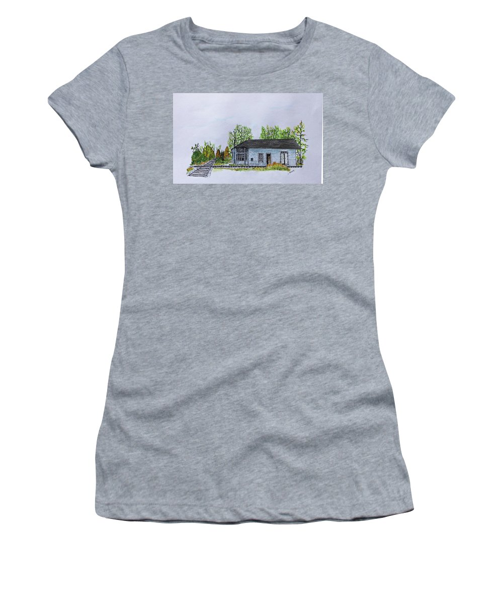 Jack Brauer Women's T-Shirt featuring the painting Stiles Junction by Jack G Brauer