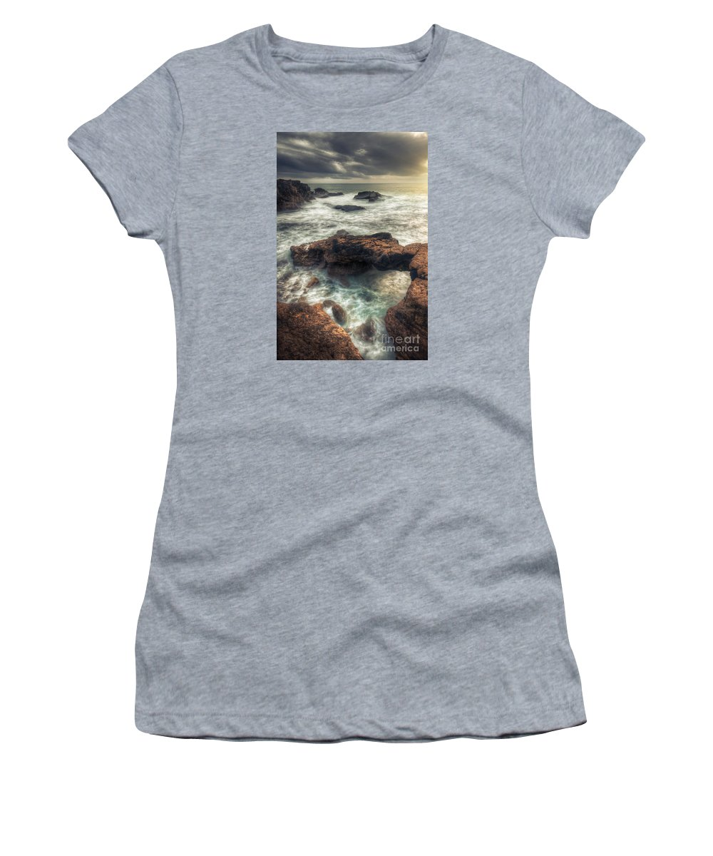 Rain Women's T-Shirt featuring the photograph Stormy Seascape by Carlos Caetano