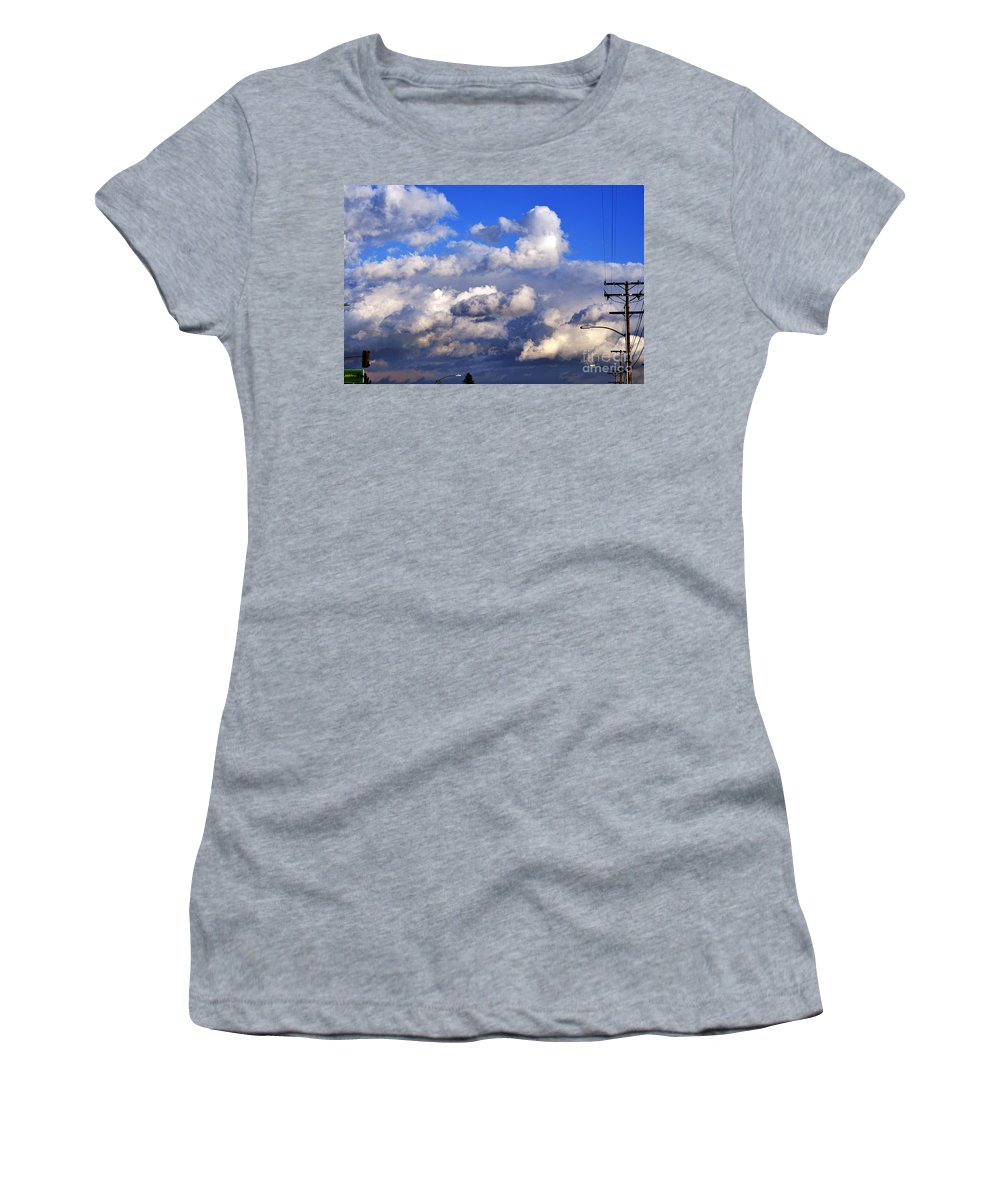Clay Women's T-Shirt (Athletic Fit) featuring the photograph Strange Clouds by Clayton Bruster
