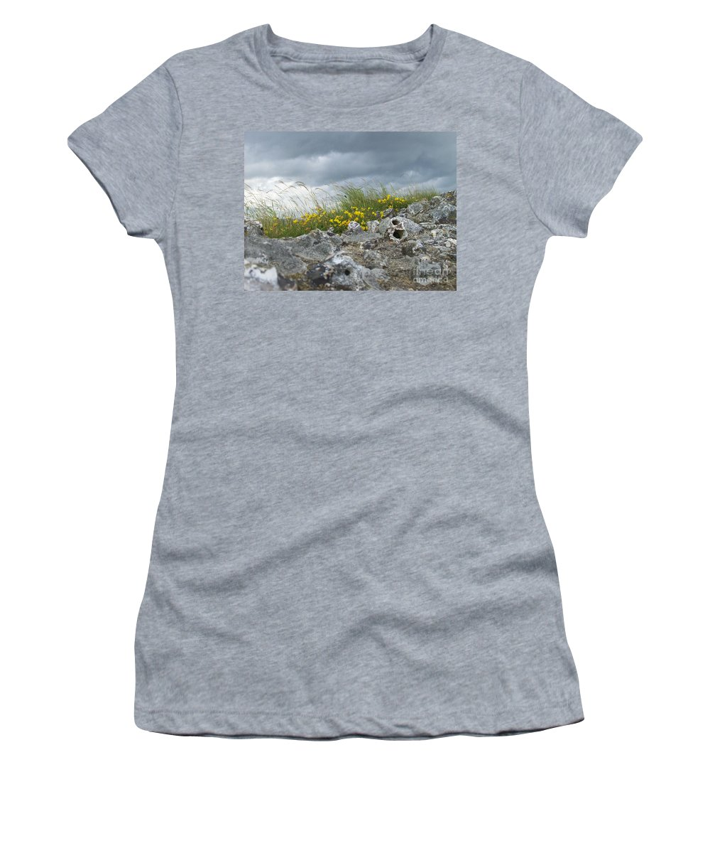Old Women's T-Shirt (Athletic Fit) featuring the photograph Striking Ruins by Mary Mikawoz