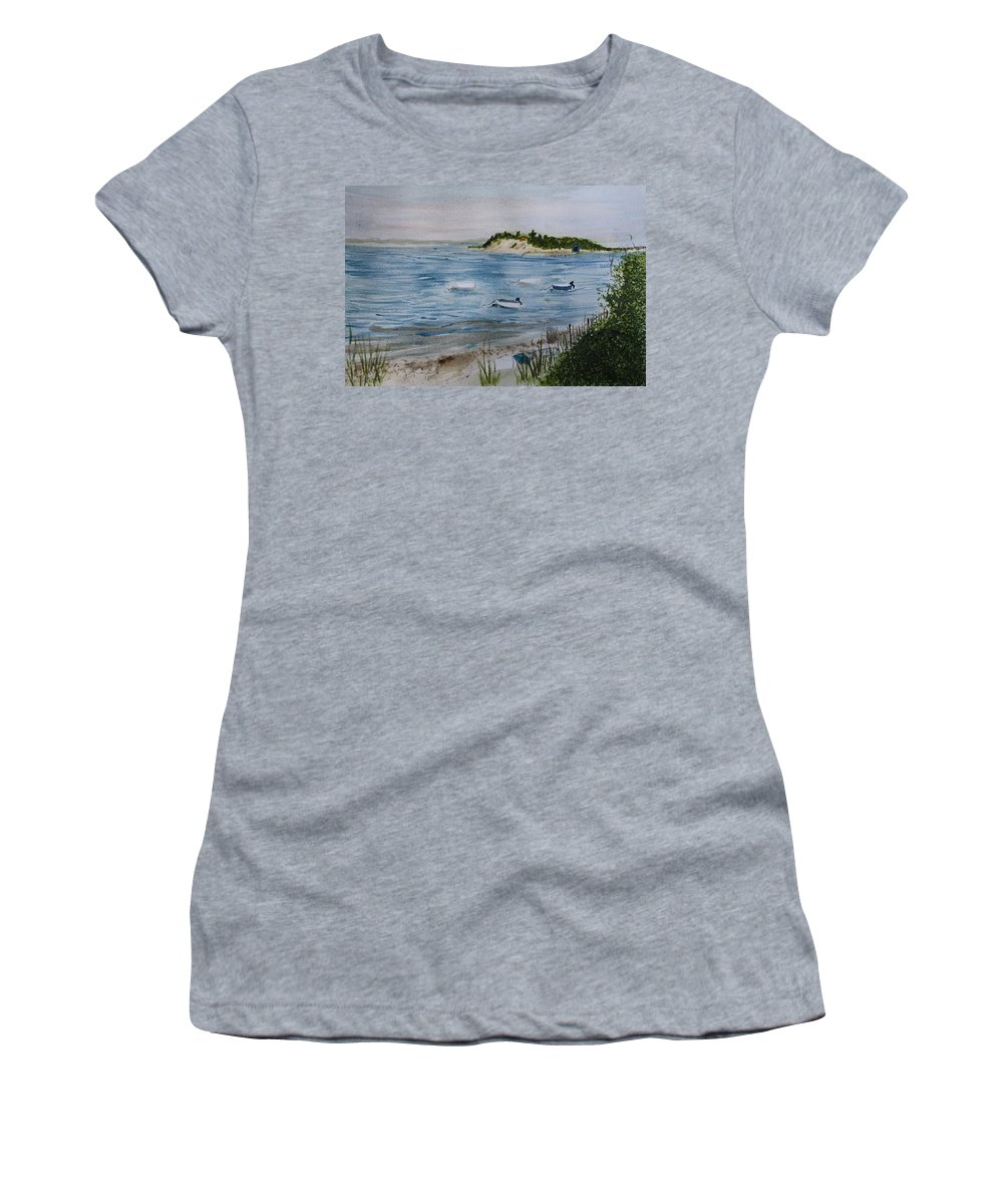 Strong Island Women's T-Shirt (Athletic Fit) featuring the painting Strong Island by Donna Walsh