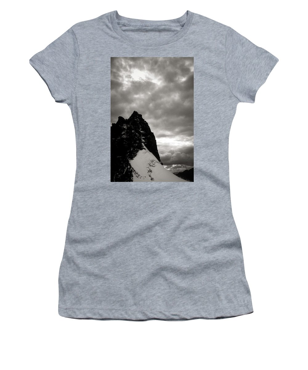 Alone Women's T-Shirt (Athletic Fit) featuring the photograph Stronghold by Konstantin Dikovsky