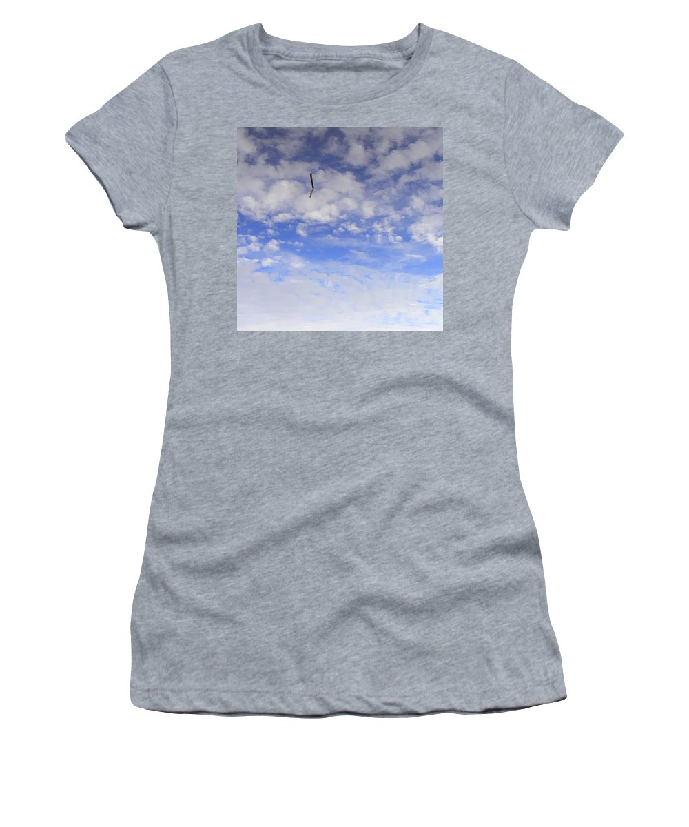 Sky Women's T-Shirt (Athletic Fit) featuring the photograph Stuck In The Clouds by Ed Smith