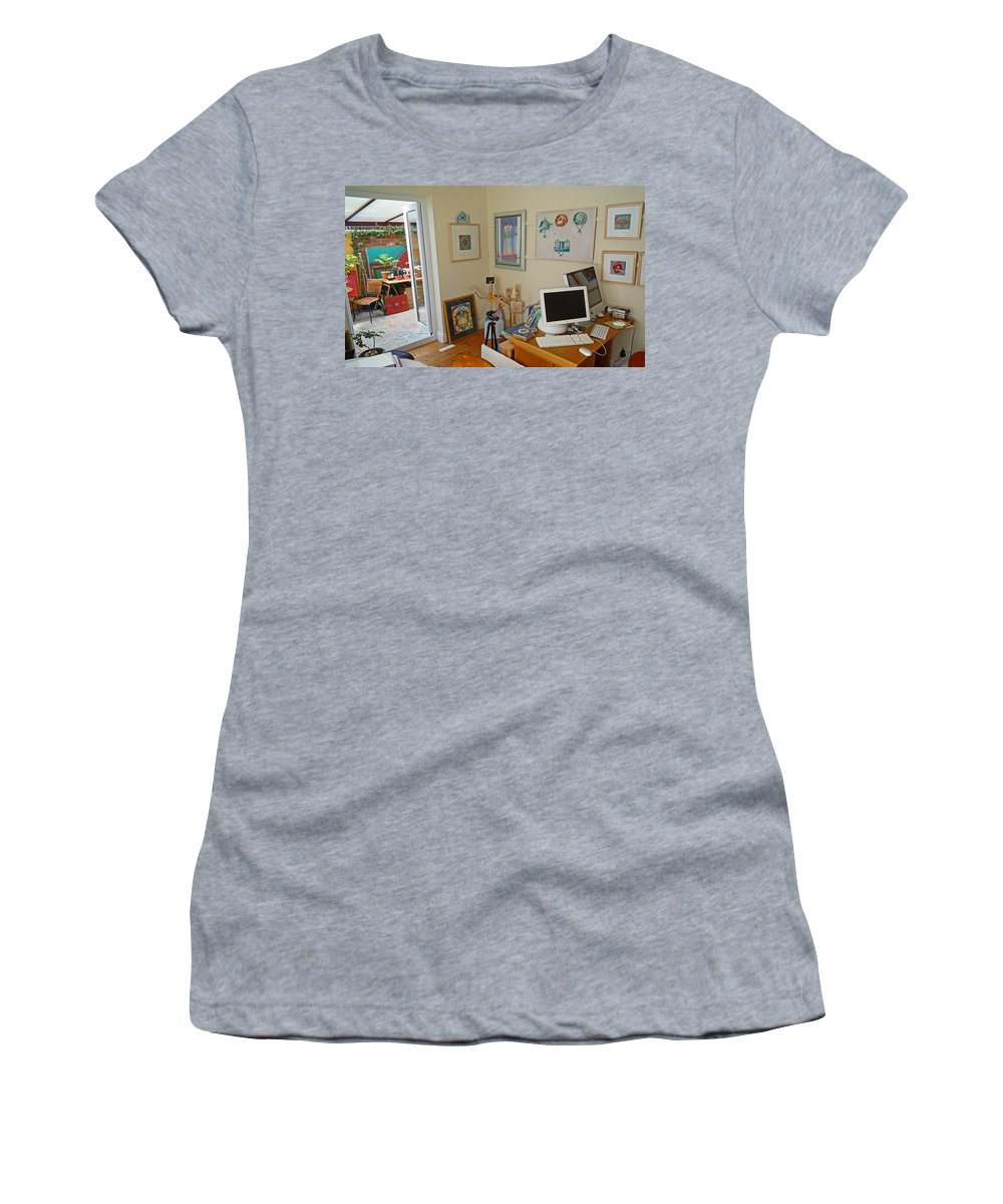 Artists Studio Women's T-Shirt (Athletic Fit) featuring the photograph Studio Still by Charles Stuart
