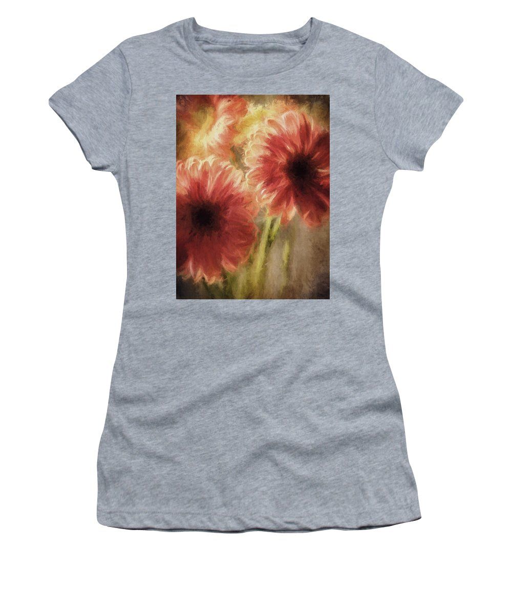 Flowers Women's T-Shirt featuring the photograph Summer Love Viii by Tina Baxter