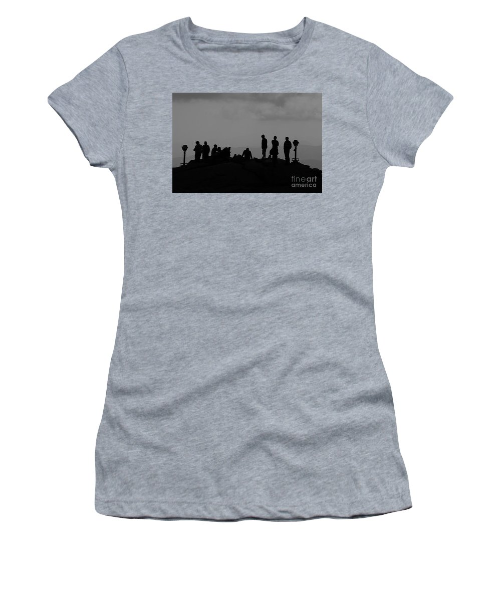 Summit Women's T-Shirt (Athletic Fit) featuring the photograph Summit People by David Lee Thompson