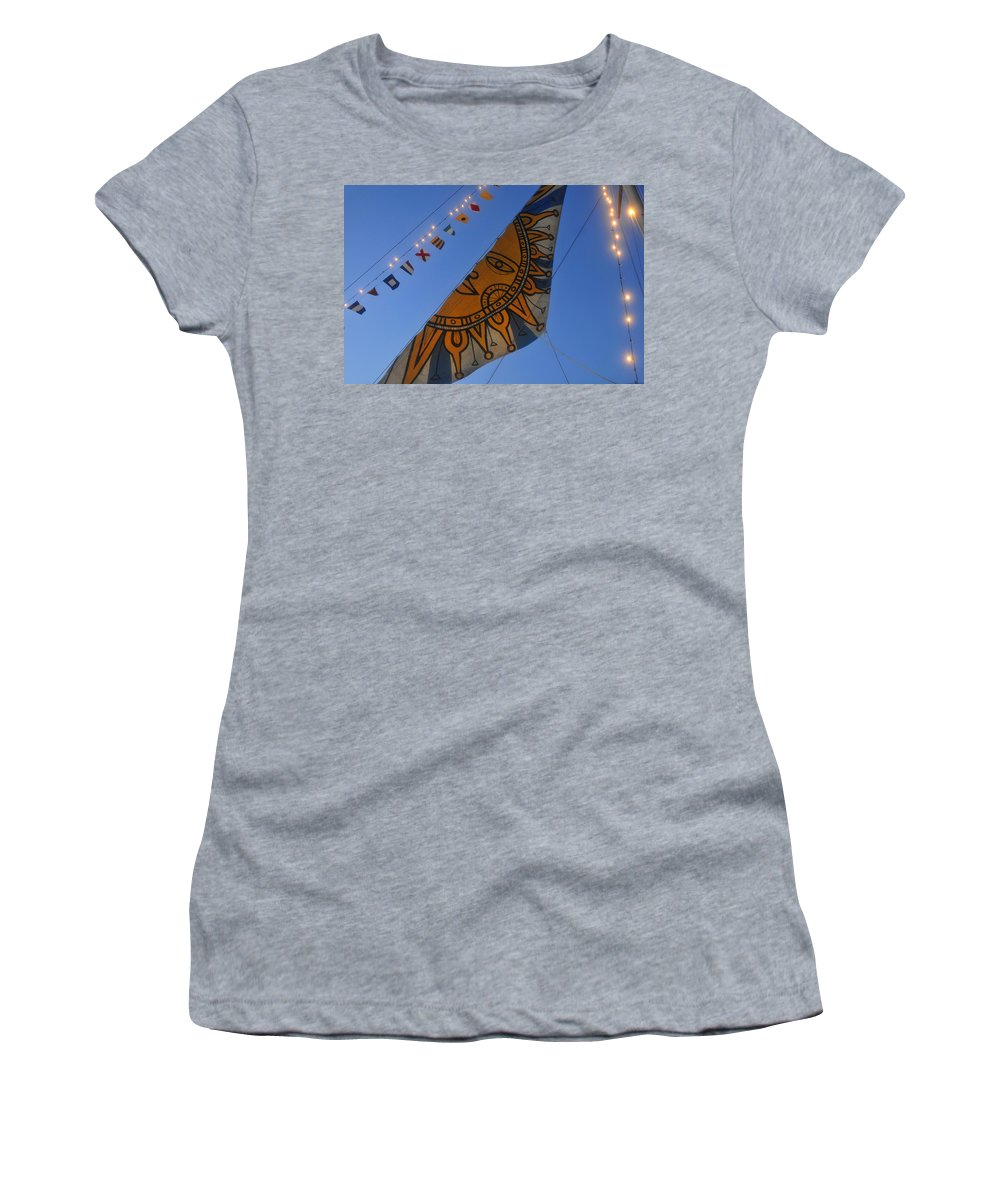 Sail Women's T-Shirt (Athletic Fit) featuring the photograph Sun Sailing by David Lee Thompson
