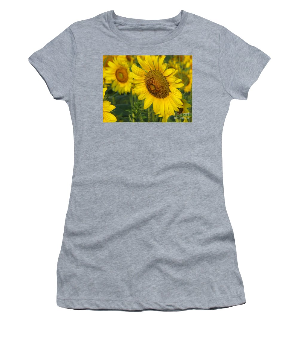 Sunflowers Women's T-Shirt featuring the photograph Sunflower Series by Amanda Barcon