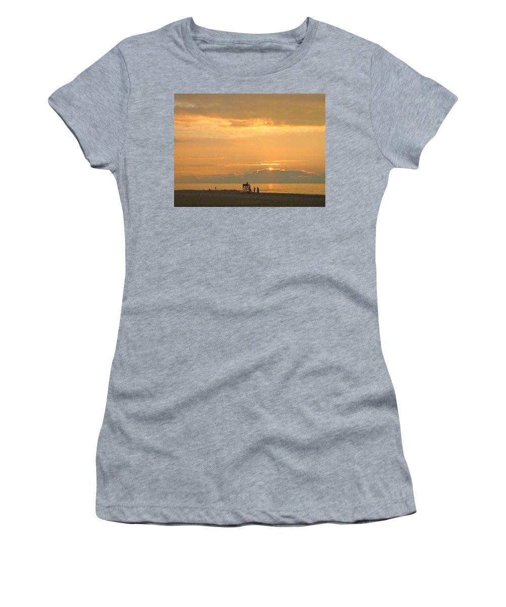 Sunrise Women's T-Shirt featuring the photograph Sunrise In July by Ellen Paull