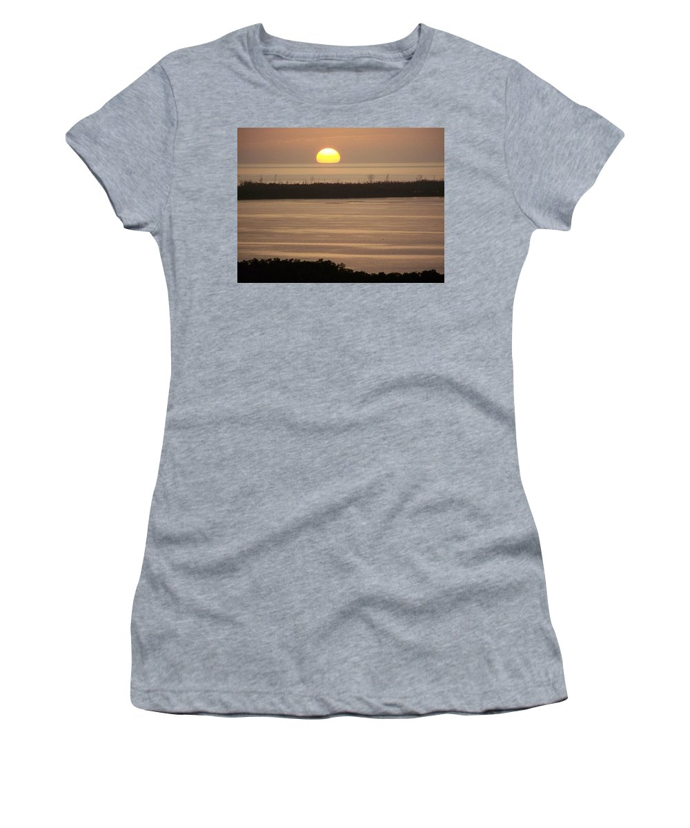 Sunset Women's T-Shirt (Athletic Fit) featuring the photograph Sunset 0022 by Laurie Paci