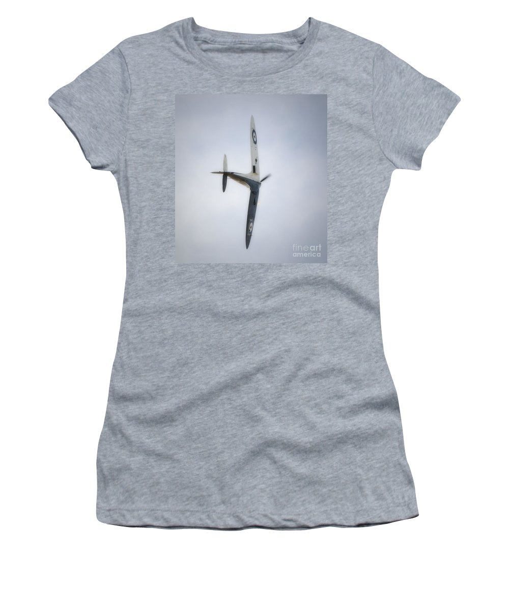 Spitfire Women's T-Shirt featuring the digital art Supermarine Spitfire Mk1 by Nigel Bangert