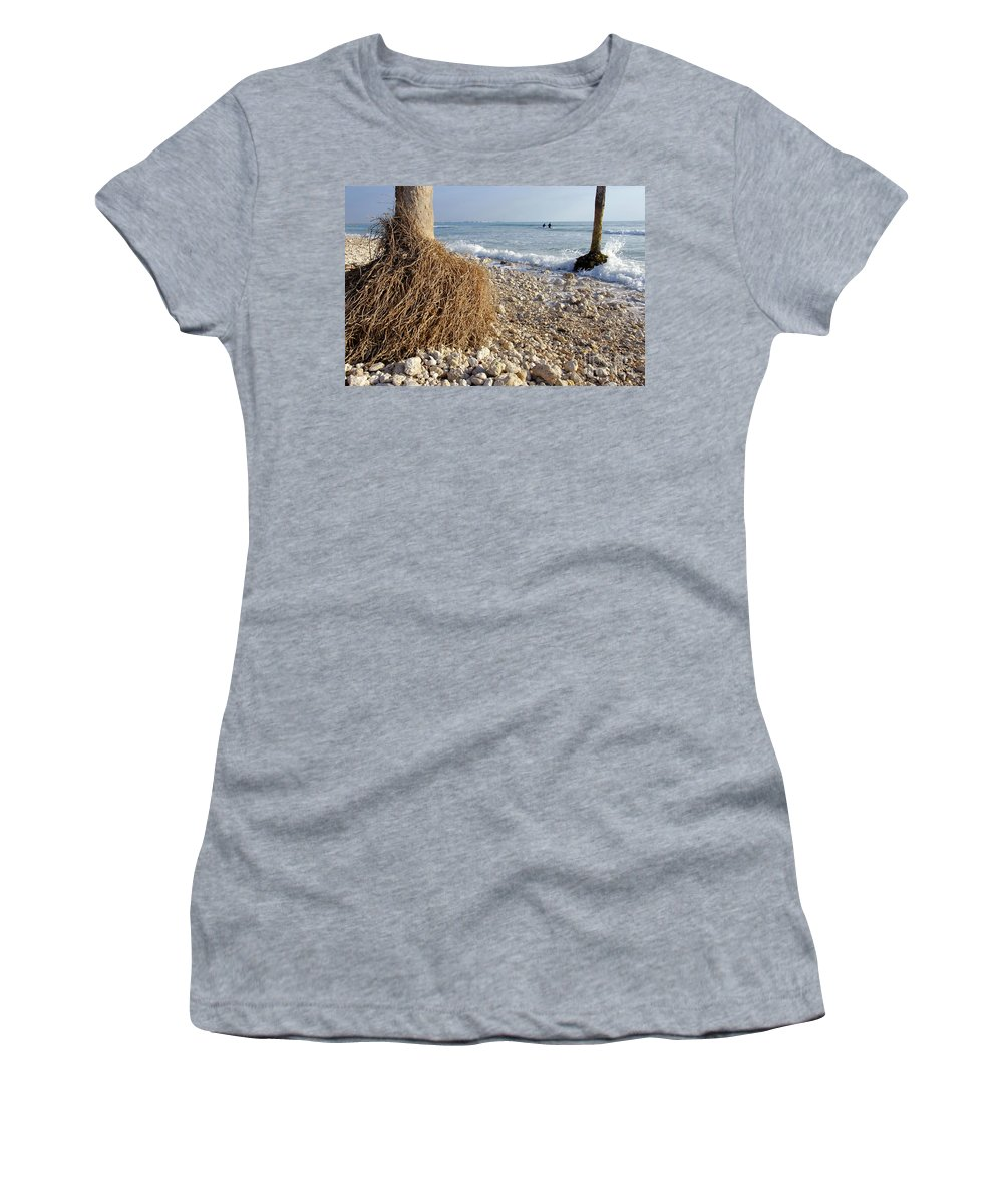 Surfing Women's T-Shirt featuring the photograph Surfing With Palms by David Lee Thompson