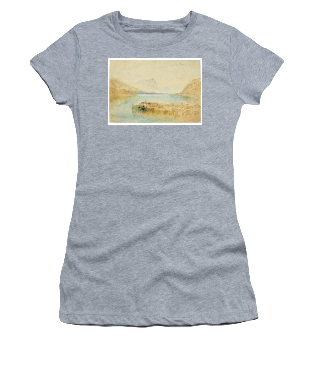 Joseph Mallord William Turner Women's T-Shirt (Athletic Fit) featuring the painting Switzerland by Joseph Mallord