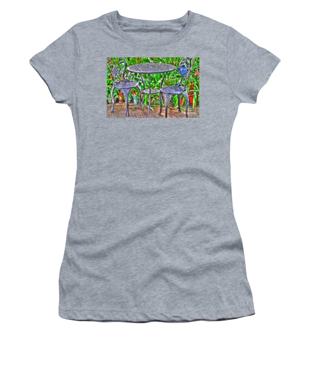 Table Women's T-Shirt (Athletic Fit) featuring the photograph Table For Two by Kathleen Struckle