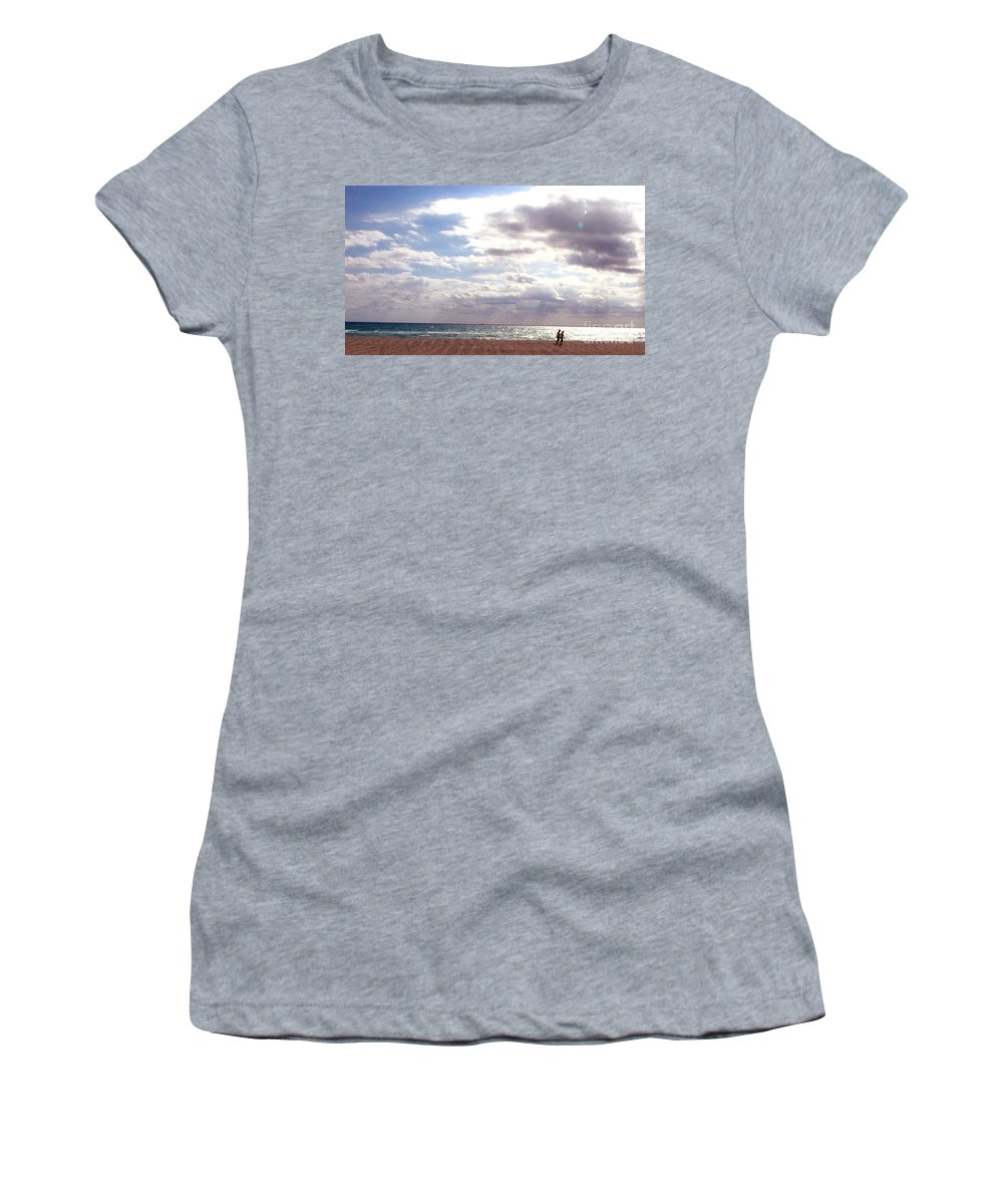 Walking Women's T-Shirt (Athletic Fit) featuring the photograph Taking A Walk by Amanda Barcon