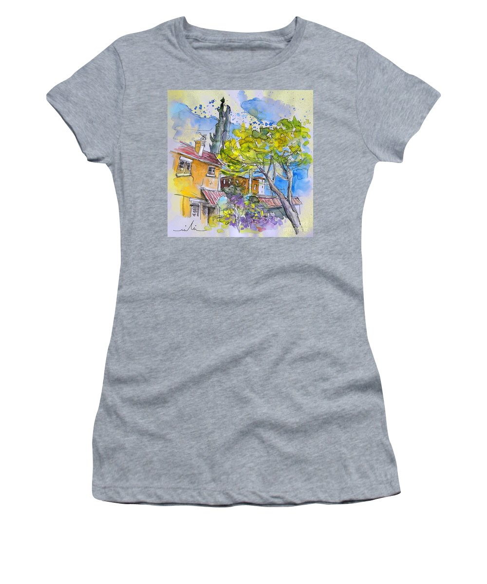 Tarbes Women's T-Shirt (Athletic Fit) featuring the painting Tarbes 04 by Miki De Goodaboom