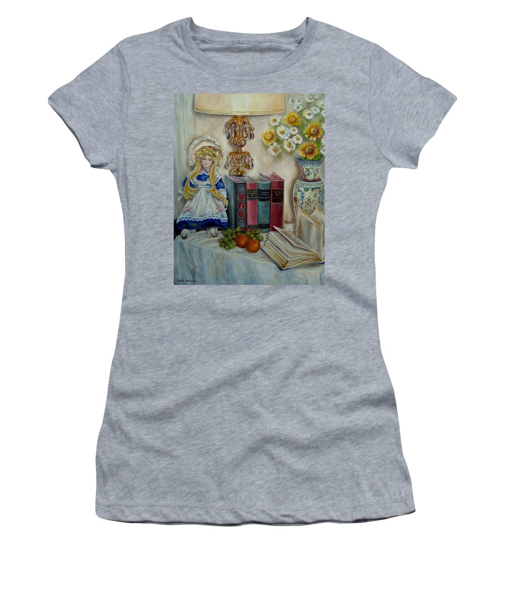 The Beatitudes Women's T-Shirt (Athletic Fit) featuring the painting The Beatitudes by Carole Spandau
