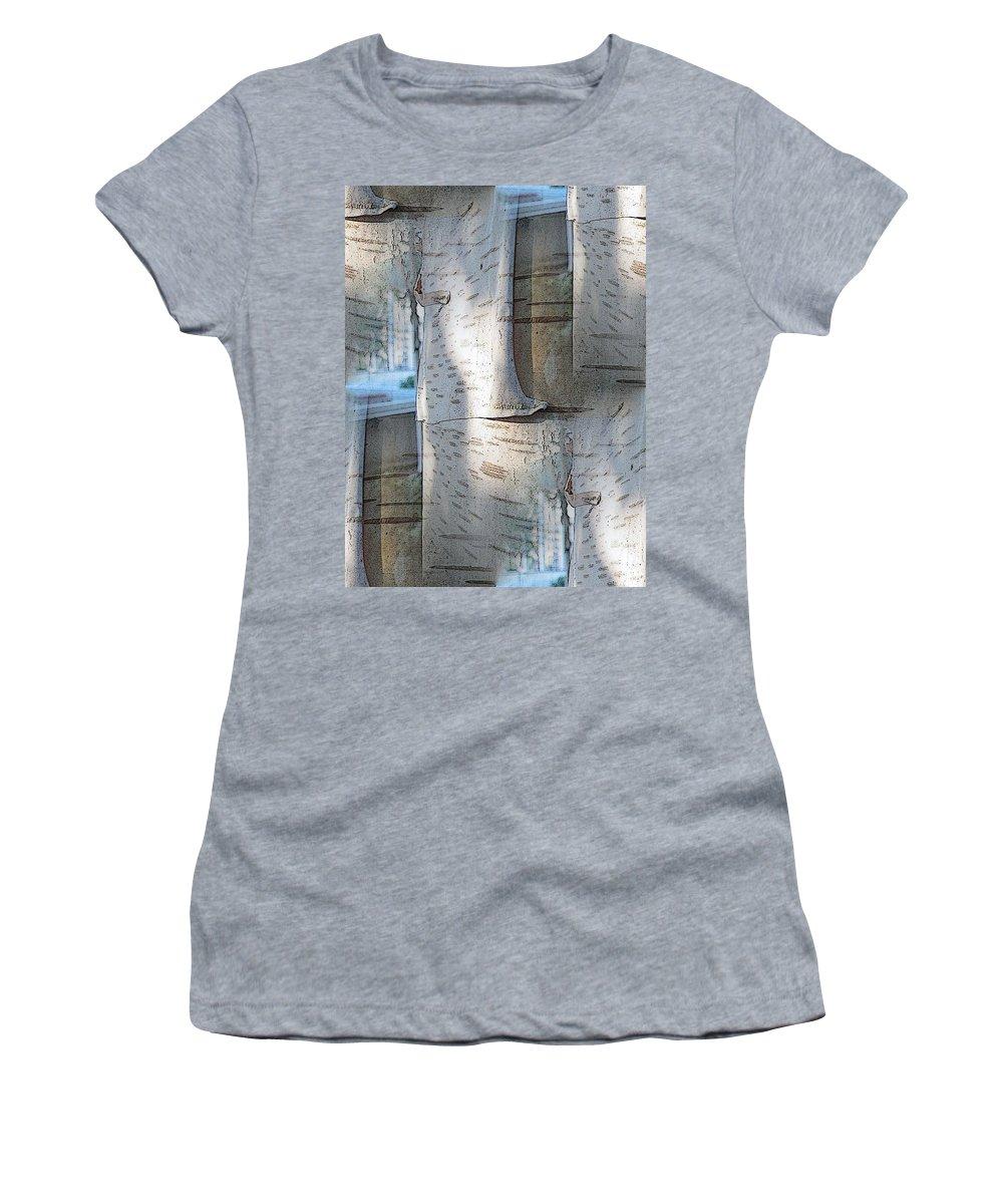 Birch Women's T-Shirt (Athletic Fit) featuring the digital art The Birch by Tim Allen