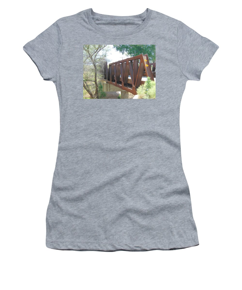Bridge Women's T-Shirt (Athletic Fit) featuring the photograph The Bridge To Home by Lisa Cooley