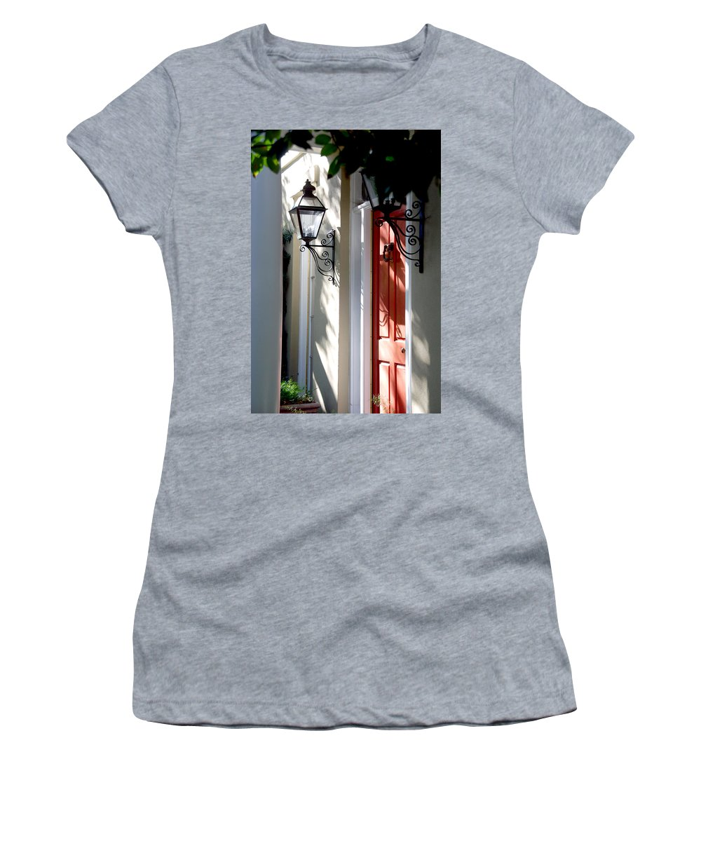 Photography Women's T-Shirt featuring the photograph The Charme Of Charleston Sc by Susanne Van Hulst