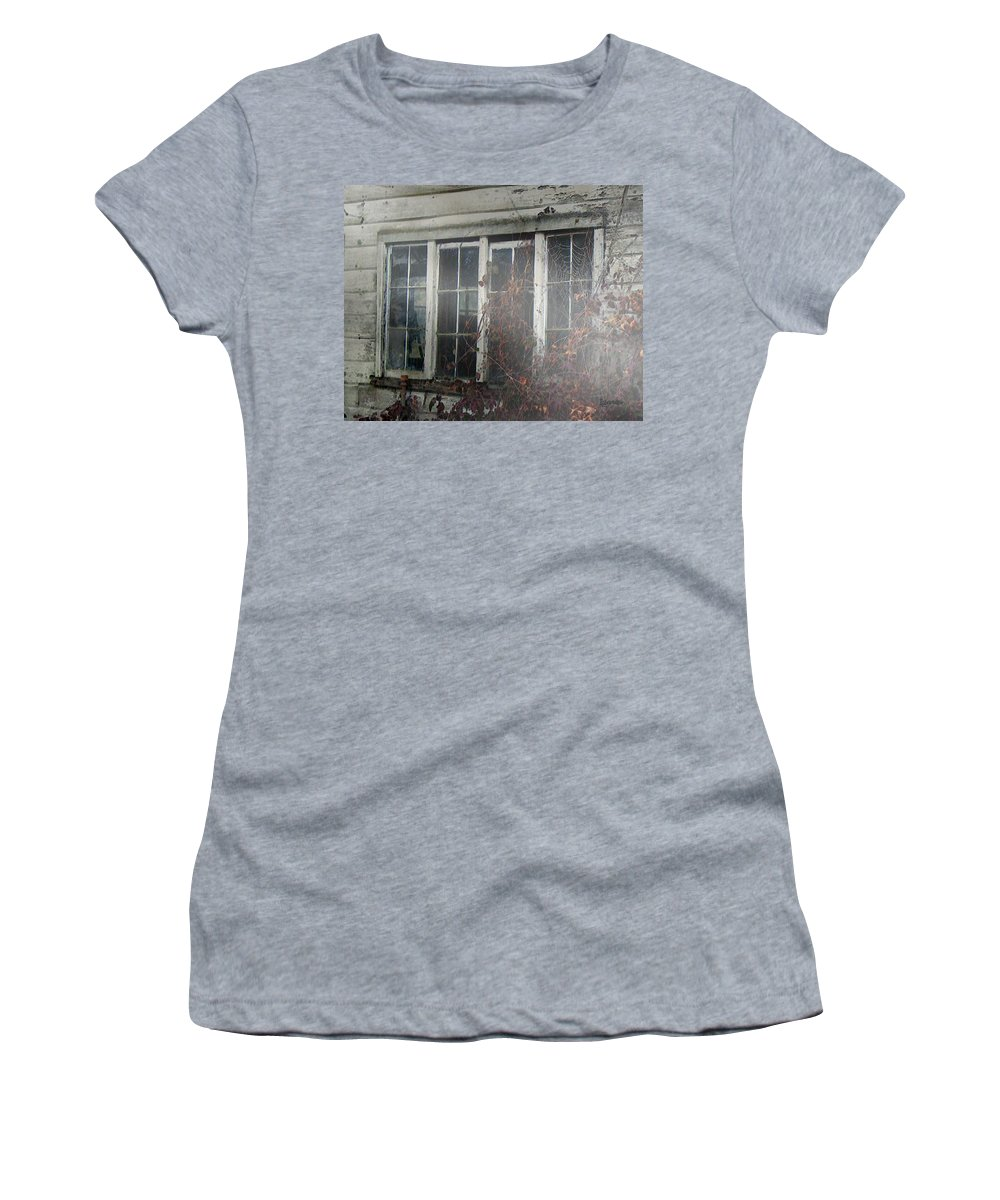 Boy Women's T-Shirt (Athletic Fit) featuring the painting The Child At The Window by RC DeWinter