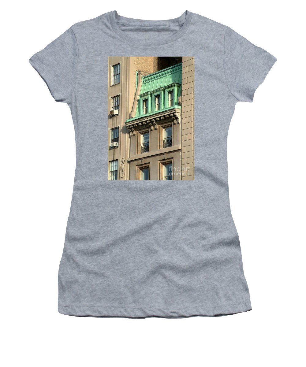 Apartments Women's T-Shirt (Athletic Fit) featuring the photograph The Copper Attic by RC DeWinter