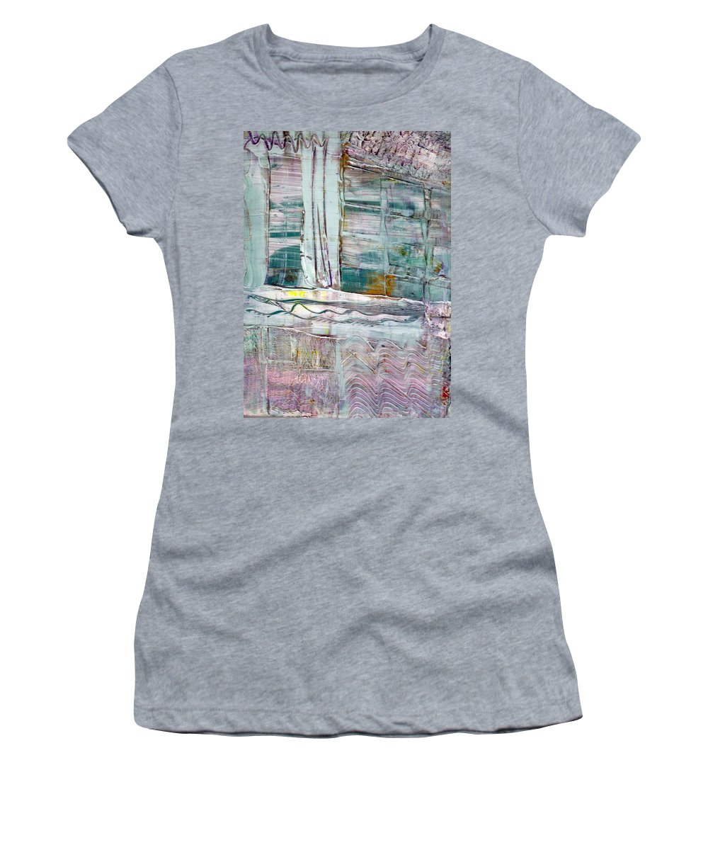 Abstract Women's T-Shirt (Athletic Fit) featuring the painting The Corner Window by Wayne Potrafka