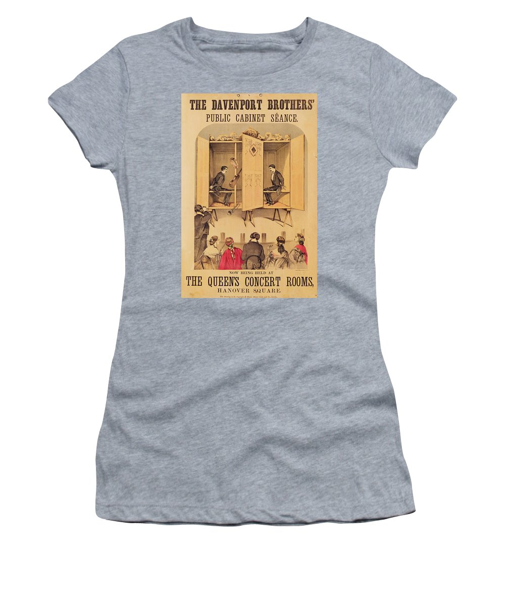 Magic Women's T-Shirt (Athletic Fit) featuring the painting The Davenport Brothers by English School