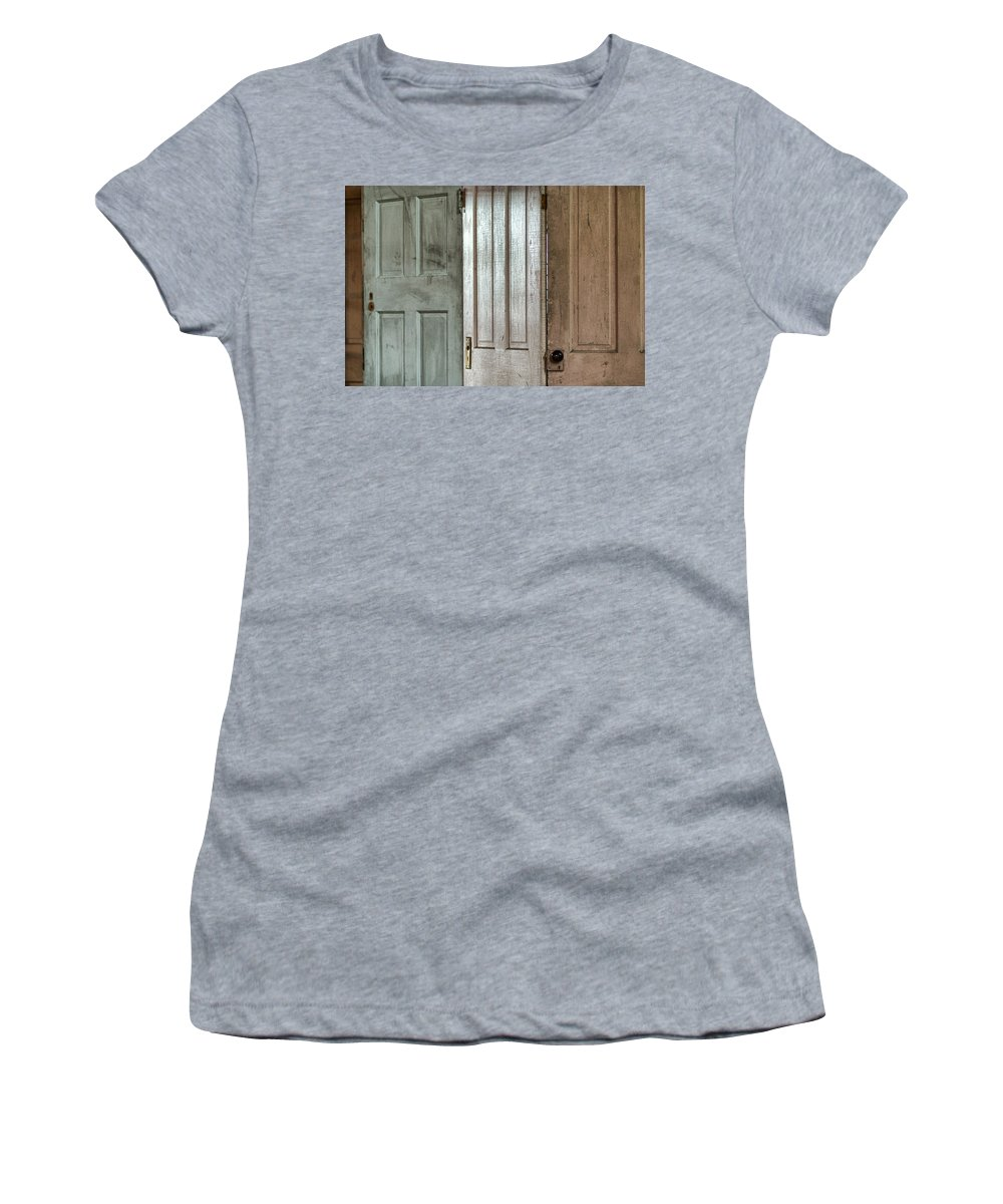 Doors Women's T-Shirt (Athletic Fit) featuring the photograph The Doors by Michael McGowan