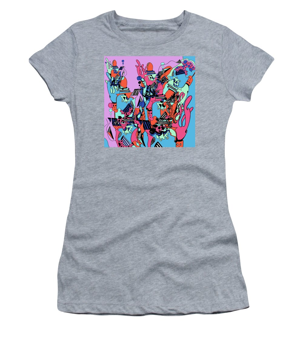 Women's T-Shirt (Athletic Fit) featuring the digital art The Factory by Kenneth Greene