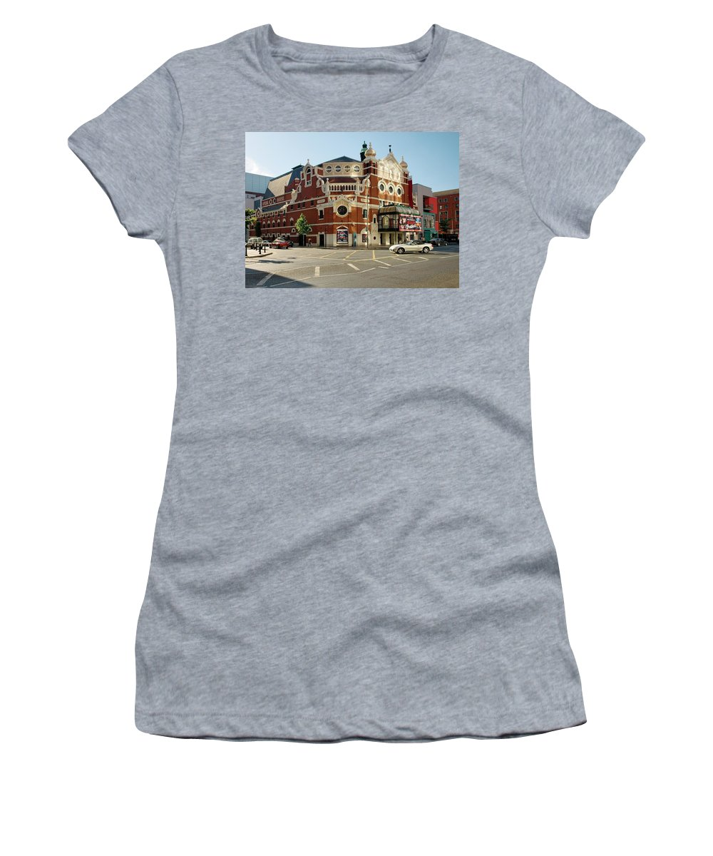 The Women's T-Shirt (Athletic Fit) featuring the photograph The Grand Opera House On Great Victoria Street, Belfast by David Lyons