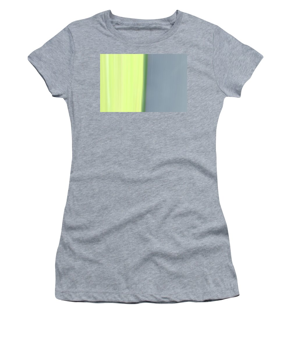 Women's T-Shirt (Athletic Fit) featuring the photograph The Green Divide by Kevin Cote