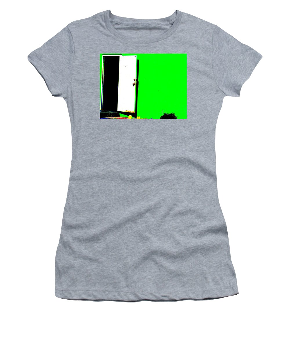 Still Life Women's T-Shirt (Athletic Fit) featuring the photograph The Green Door by Ed Smith