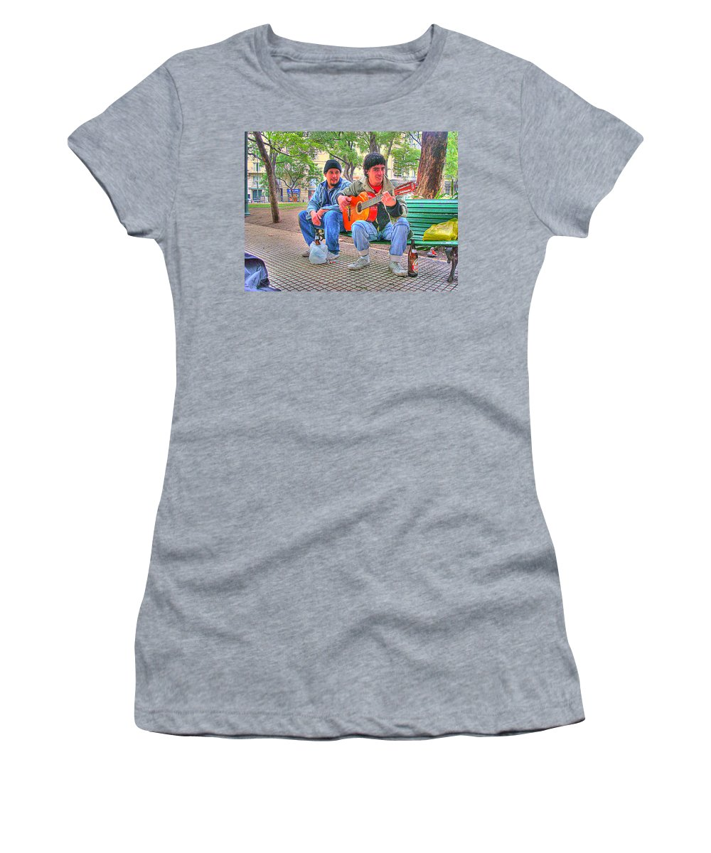 Park Women's T-Shirt (Athletic Fit) featuring the photograph The Guitar by Francisco Colon