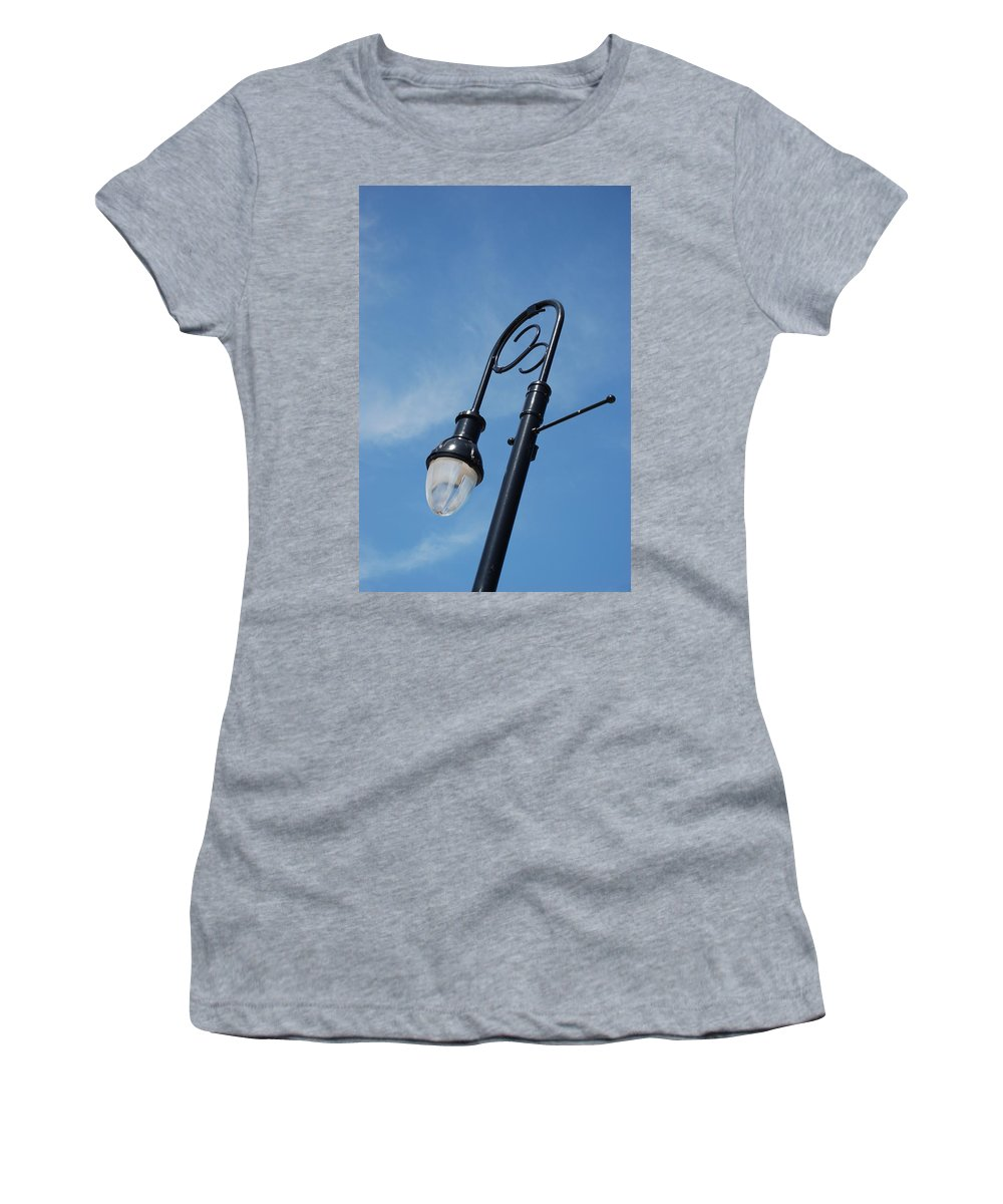 Blue Sky Women's T-Shirt featuring the photograph The Lamp Post by Rob Hans