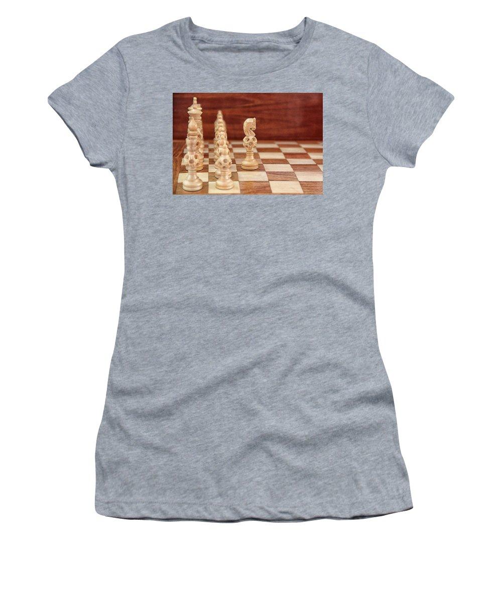 Board Women's T-Shirt featuring the digital art The Lone Knight by Sandeep Gangadharan