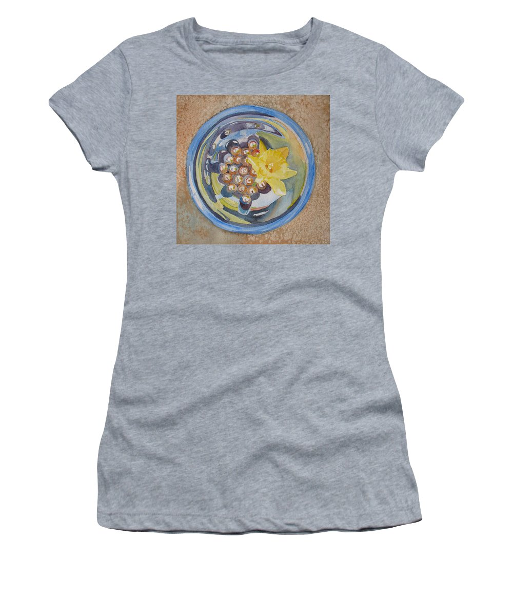 Daffodil Women's T-Shirt featuring the painting The Magic Bowl II by Jenny Armitage