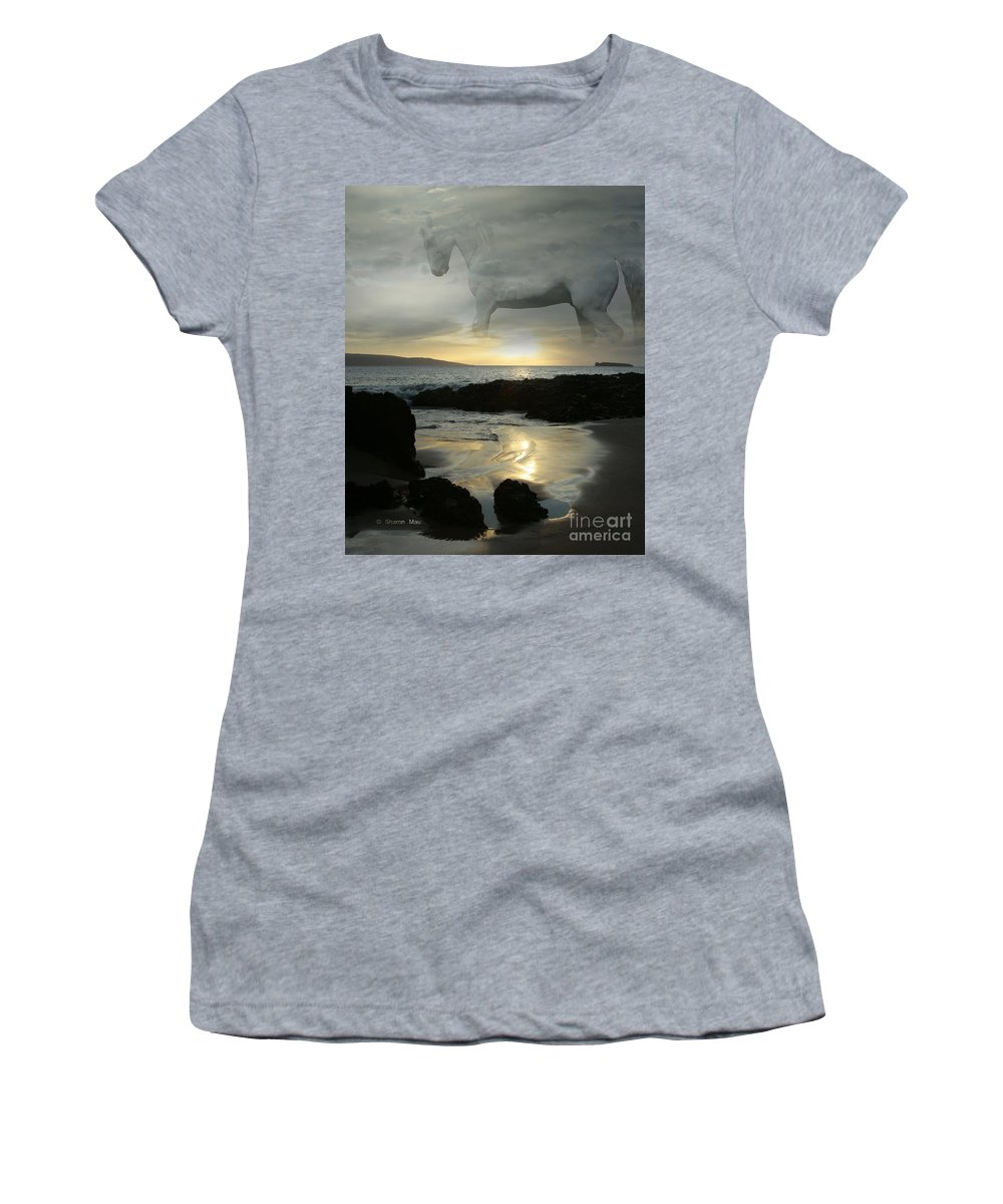 The Melody Of Love Women's T-Shirt featuring the digital art The Melody Of Love by Sharon Mau