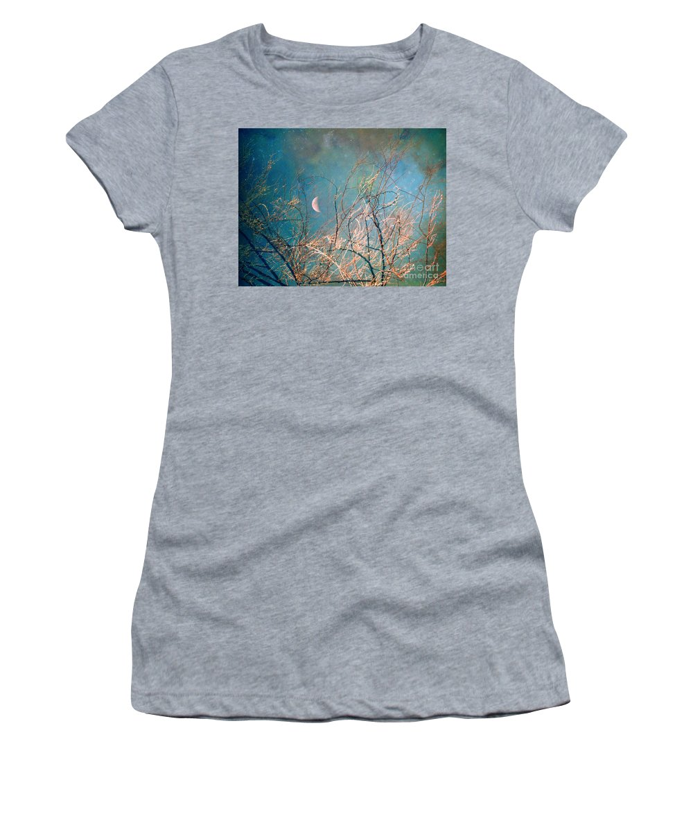 Moon Women's T-Shirt featuring the photograph The Messy House Of The Moon by Tara Turner